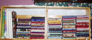 Neatly folded and stacked fabrics