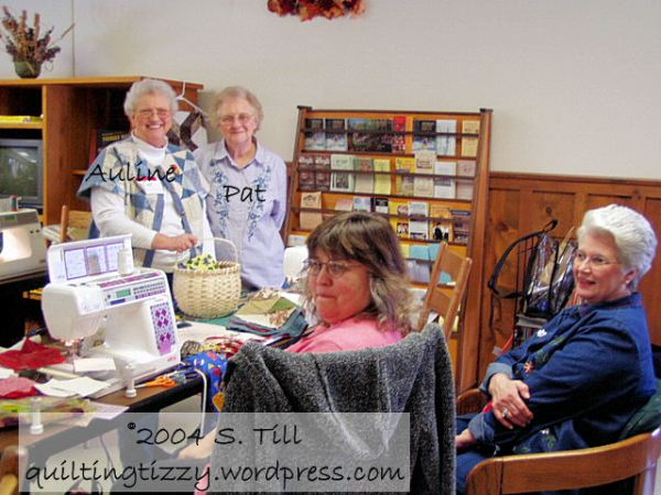 Auline & Pat at our first Quilter's Romp in Mountain View, AR