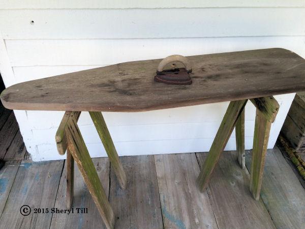 An ironing board