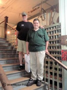 A nice pic of Don and Chris on the stairs up to the gift shop.