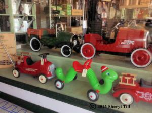 Toys in the store windows