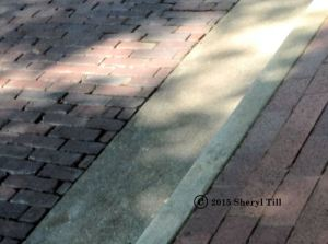 The streets are paved with brick.  I love it!